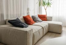 Sofa med puder